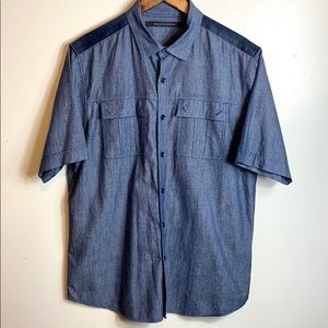 Sean John Casual Button up - Blue - Size Large